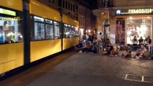 Straßenbahnstreicheln auf der Rothenburger-/Ecke Louisenstraße Foto: Archiv