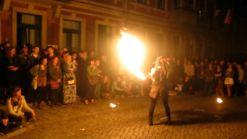 Feuershow neben dem BRN-Ball