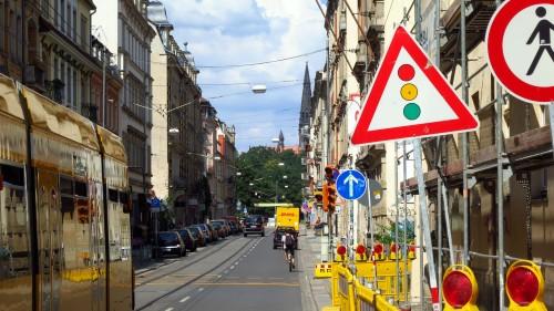 Ampel auf der Görlitzer Straße