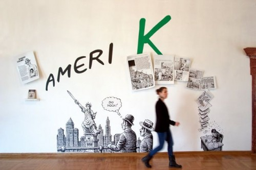 """K: KafKa in KomiKs"" in der Neustädter Markthalle. Foto: Julia Kühne"