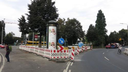 Mittels Ampel soll die Albertstraße künftig leichter zu überqueren sein.