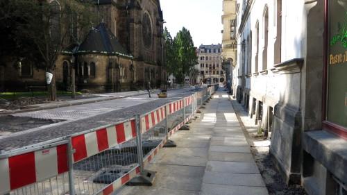 Die Nordseite ist fast fertig und soll am 9. Oktober frei gegeben werden.