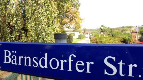 Wenn die Friedensstraße endet, beginnt die Bärnsdorfer.