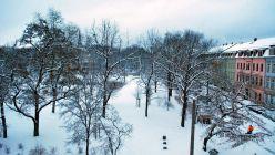 Verschneiter Alaunplatz ... Danke an Elá für das Foto