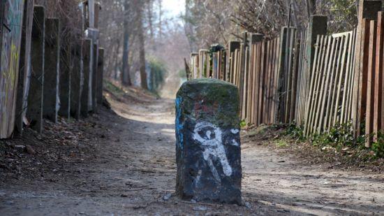 Ende des Dammweges an der Stauffenbergallee