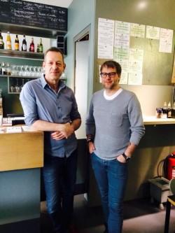 Pastamanufaktur-Chef Oliver Breuninger kocht mit Sternekoch Stefan Hermann