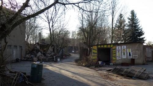 Nach der Räumung des Freiraum Elbtal befinden sich nur noch Ruinen auf dem Gelände.