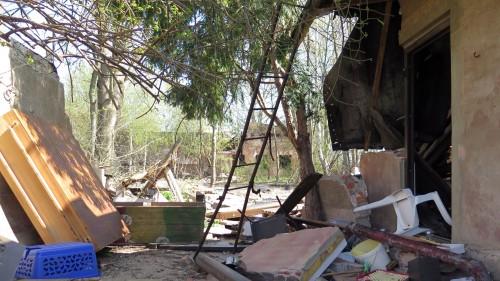 Das Gelände besteht inzwischen fast ausschließlich aus Ruinen.