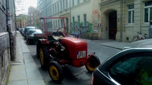 Porsche auf der Pulsnitzer Straße