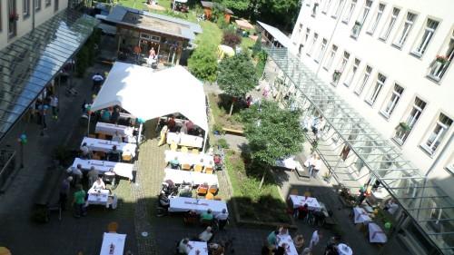 Familienfest: Der Hof der Kästner-Passage zum Sommerfest 2014
