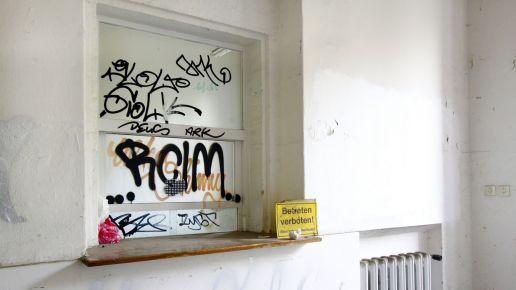 Elixir Dresden: Die letzte Nutzung des Gebäudes liegt schon ein paar Jahre zurück. Foto: Youssef Safwan