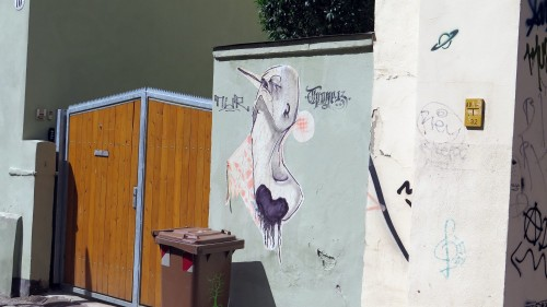 Street-Art an der Erlenstraße