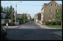 Zum Vergleich, so sah die Alaunstraße um 1990 herum aus. Foto: Archiv/Lothar Lange