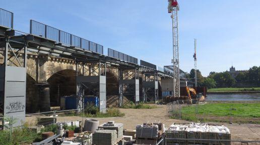 Seit September wurde die Behelfsbrücke demontiert.
