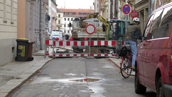 Martin-Luther-Strasse gesperrt