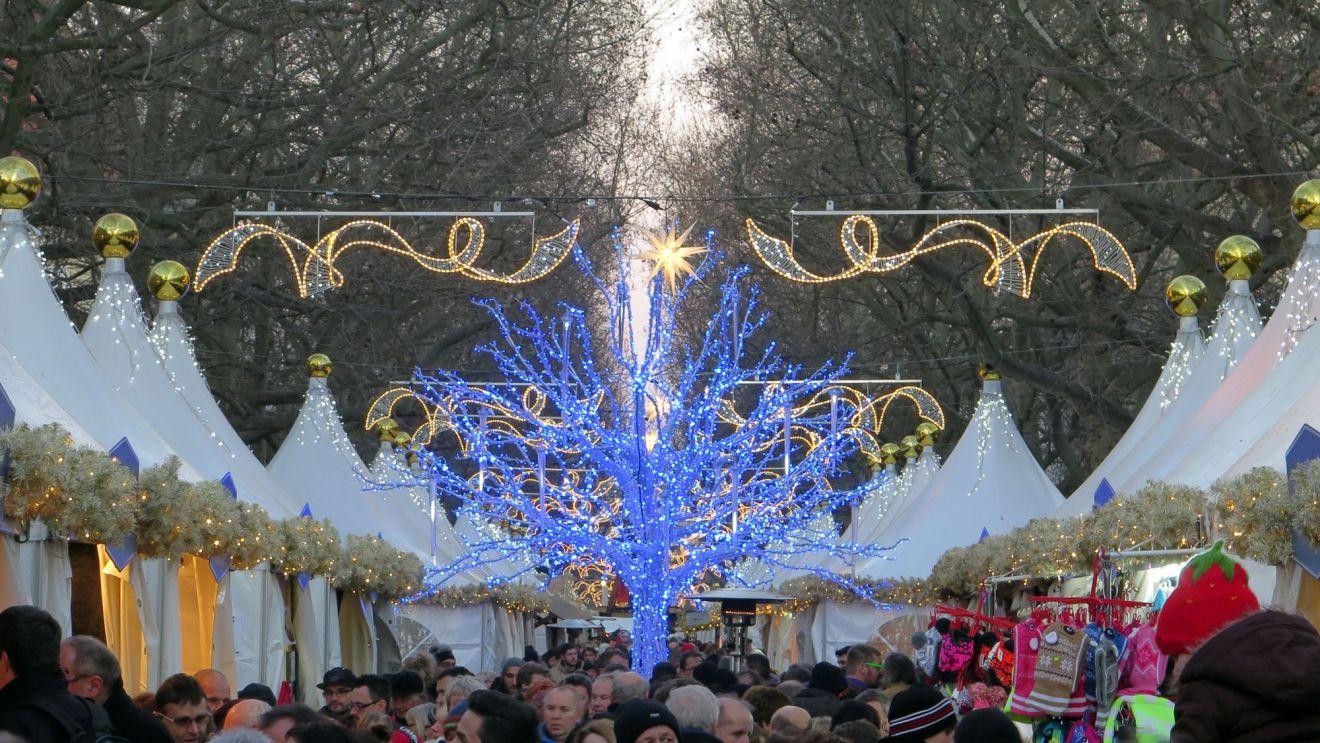 Weihnachtsmarkt in Dresden Neustadt: Augustusmarkt auf der Hauptstraße