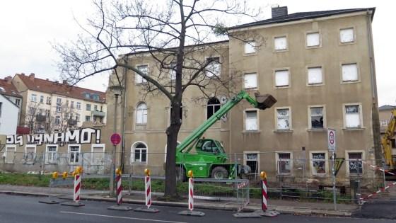 Das Haus an der Lößnitzstraße wird abgerissen.