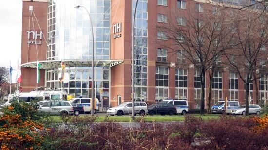 Polizei an der Hansastraße