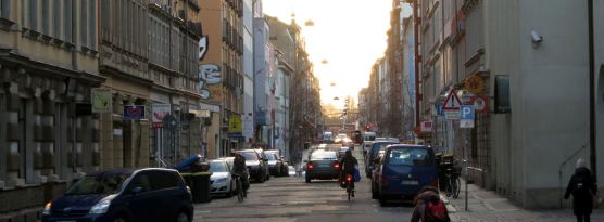 Louisenstraße im Februar 2013