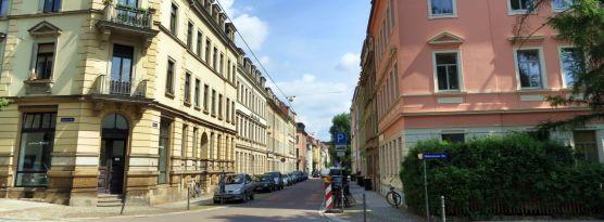 Prießnitzstraße im Juli 2013