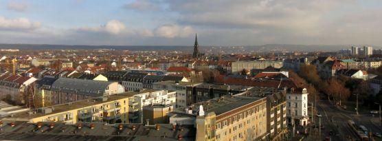 Blick vom Hochhaus November 2014