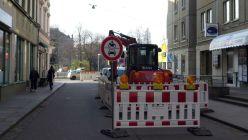 Alaunstraße für Kraftverkehr gesperrt