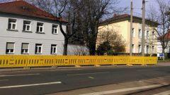 Baustellen-Zaun an der Königsbrücker Straße
