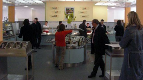 Kantine Landesdirektion Dresden: Schön hell ist die Kantine in der Landesdirektion