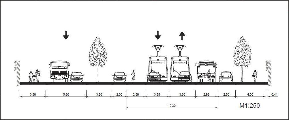 Abschnitt 2 zwischen Louisenstraße und Bischofsweg Variante 8.4