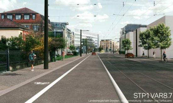 Die Visualisierung für die Variante 8.7 für den Abschnitt in Höhe der Katharinenstraße.