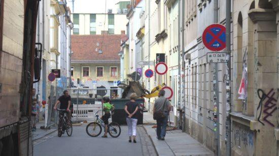 Böhmische Straße gesperrt