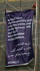 Plakat an der Martin-Luther-Kirche