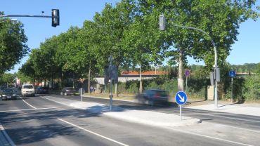 Neue Mittelinsel an der Hansastraße