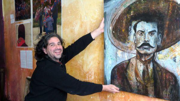An die Wand kommt der Emiliano Zapata.