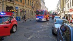 Feuerwehr-Kurzbesuch auf der Louisenstraße