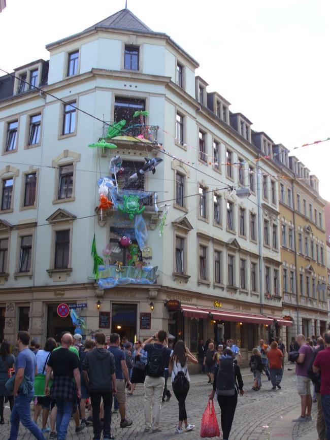 Geschmückte Ecke Martin-Luther-Louisenstraße