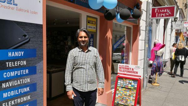 Hat ein Elektronik-Lädchen eröffnet: Rajwinder Singh Goraya