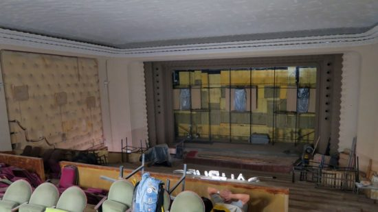 Der Sergio-Leone-Saal wurde entkernt.
