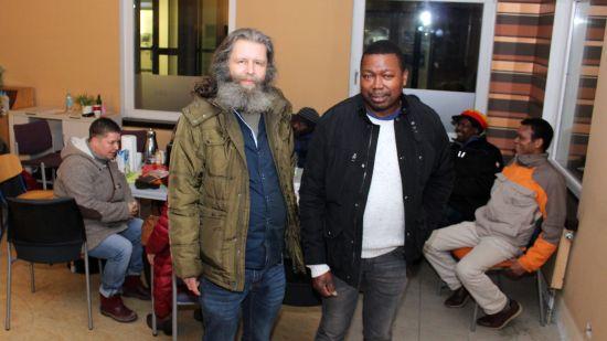 Afropa-Geschäftsführer Andreas Hempel und Vorstand Luis Mazuze.