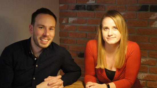 Thomas Helbig und Lisa Börnert von Grafox