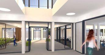Eingangsbereich - Visualisierung: NBHG Architekten