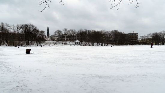 Alaunplatz: Zum Rodeln reichts - Skispringen wird wohl nix.