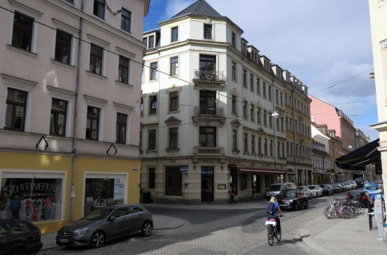 Gefährliche Kreuzung zwischen Martin-Luther-, Louisen- und Kamenzer Straße.