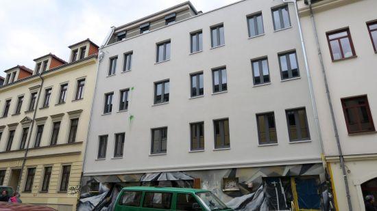 Fassadengestaltung im Neustadt-Style - diesmal grün.