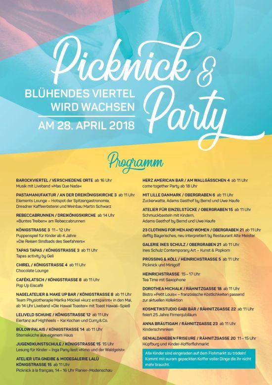 Picknick- und Party-Programm