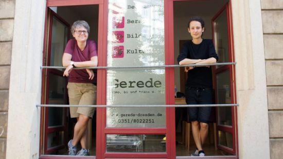 Isabell Häger und Carolin Wiegand vom Gerede e.V. - dem ersten Mieter im Stadtteilhaus