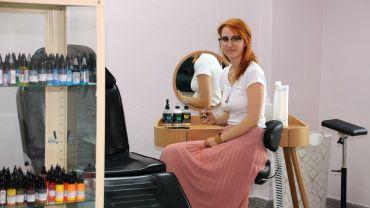 Jasmin Blechschmidt in ihrem Studio an der Königsbrücker Straße.