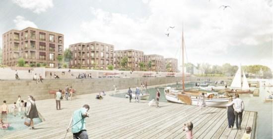 Der Entwurf des Büros Weinmiller Architekten aus Berlin gefiel der Jury am besten. Quelle: USD Immobilien