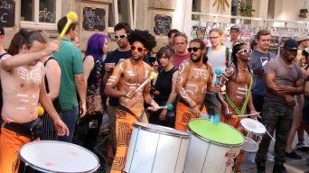 Trommler auf der Alaunstraße