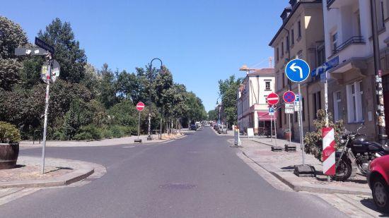 Neue Verkehrsführung am Königsbrücker Platz